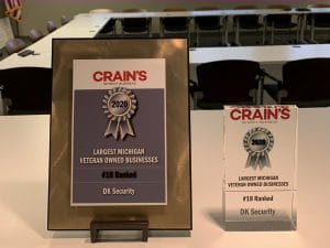 DK Security Named Among Top 25 Largest Veteran-Owned Businesses in Michigan